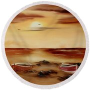Ebb Tide And Stranded Round Beach Towel