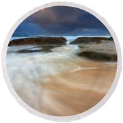 Ebb Tide Sunrise Round Beach Towel
