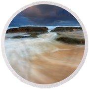 Ebb Tide Sunrise Round Beach Towel