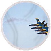 Echelon Left Round Beach Towel