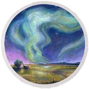Echoes In The Sky Round Beach Towel