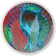 Echoing Seed Pod  Round Beach Towel