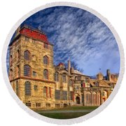 Eclectic Castle Round Beach Towel