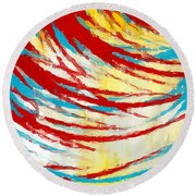 Eclectic Rays  Round Beach Towel