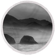 Ecola State Park - Oregon State Coast Round Beach Towel