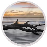 Ecstacy Round Beach Towel by Debra and Dave Vanderlaan