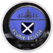 Ecurie Ecosse Badge Round Beach Towel
