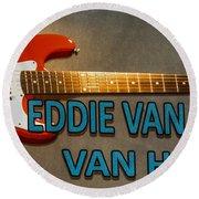 Eddie Van Halen Guitar Round Beach Towel