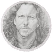 Eddie Vedder Round Beach Towel
