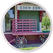 Eden Center Depot 1943 Round Beach Towel