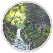 Eden's Bridge Round Beach Towel