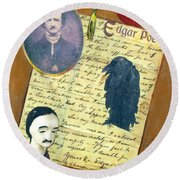 Edgar Allen Poe Round Beach Towel