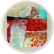 Edge 50 Round Beach Towel by Jane Davies