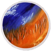 Edge Of Autumn Round Beach Towel
