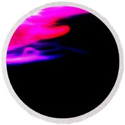 Edge Of Space Abstract Round Beach Towel