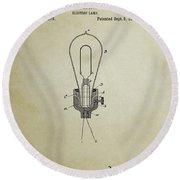 Edison Electric Lamp Patent 3 -  1882 Round Beach Towel