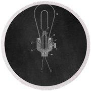 Edison Light Bulb Patent Art Chalkboard Round Beach Towel