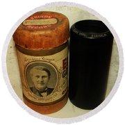 Edison Phonograph Cylinder 9750 Comic Song  Garibaldi  Round Beach Towel