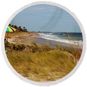 Edisto Beach By Jan Marvin Round Beach Towel
