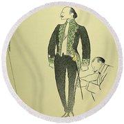 Edmond Rostand (1868-1918) Round Beach Towel