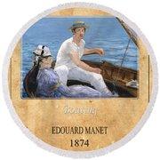 Edouard Manet 4 Round Beach Towel
