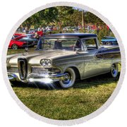 Edsel Ranchero Round Beach Towel