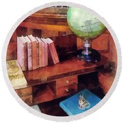 Education - Professor's Office Round Beach Towel