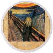 Edvard Munch 1 Round Beach Towel