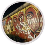 Berlin Wall Hearts Round Beach Towel