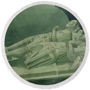 Effigies, Winchelsea Church Round Beach Towel
