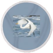 Egert In Flight Detail Round Beach Towel