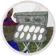 Egg Crate Round Beach Towel