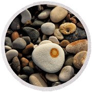 Egg Pebble Round Beach Towel