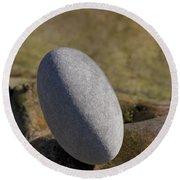 Egg-shaped Stone Round Beach Towel