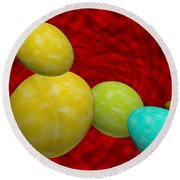 Eggish  Round Beach Towel