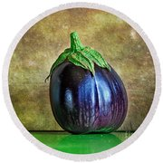 Eggplant Round Beach Towel