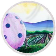 Eggstatic Round Beach Towel