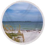 Egmont Key Round Beach Towel