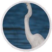Egret 148 Round Beach Towel