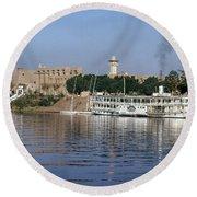 Egypt - Nile Steamboat Round Beach Towel
