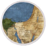 Egypt And The Holy Land Round Beach Towel