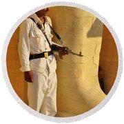 Egypt Tourist Security Round Beach Towel
