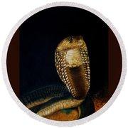 Egyptian Cobra Round Beach Towel