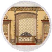 Egyptian Interior , From Interior Round Beach Towel