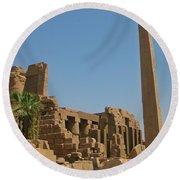 Egyptian Obelisk Round Beach Towel