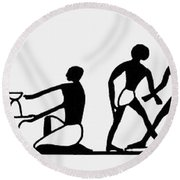 Egyptian Potters Round Beach Towel
