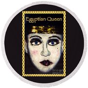 Egyptian Queen Round Beach Towel