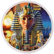 Egyptian Treasures II Round Beach Towel