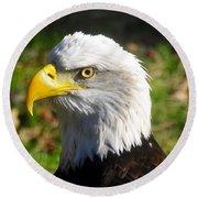 Bald Eagle Head Shot One Round Beach Towel