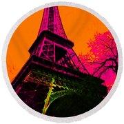 Eiffel 20130115v1 Round Beach Towel